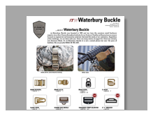 militare catalogo itw waterbury buckles