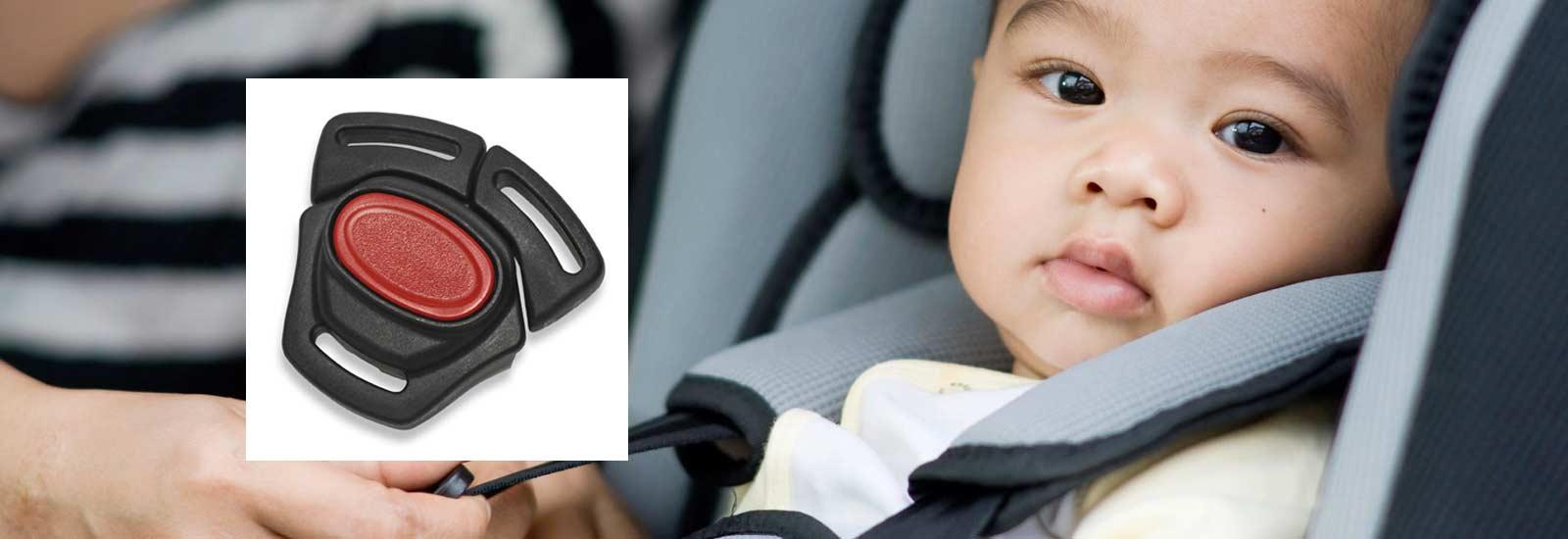 Fibbia plastica sicurezza auto